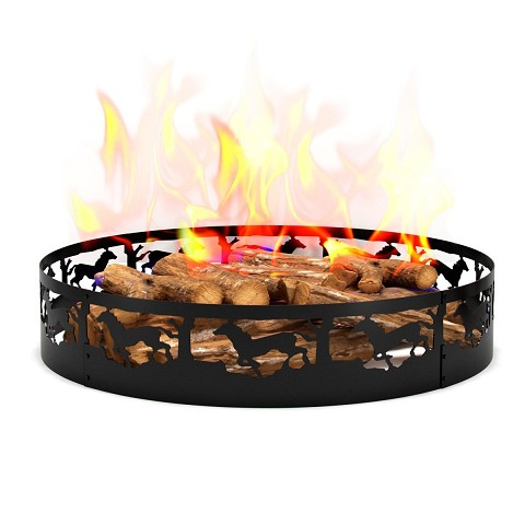 Regal Flame Boston Backyard Garden Home Running Horse Light Wood Fire Pit Fire Ring