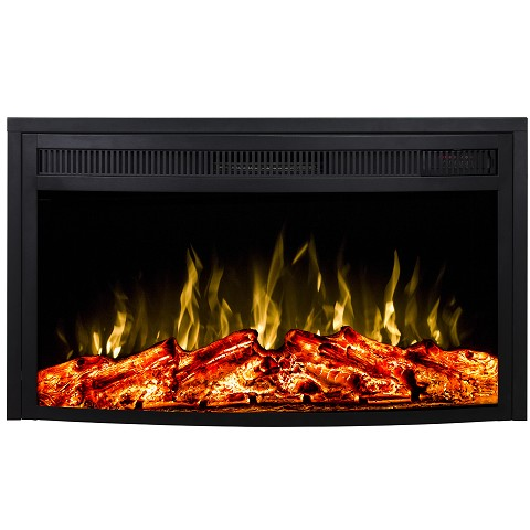 Regal Flame 23 Inch Curved Ventless Heater Electric Fireplace Insert