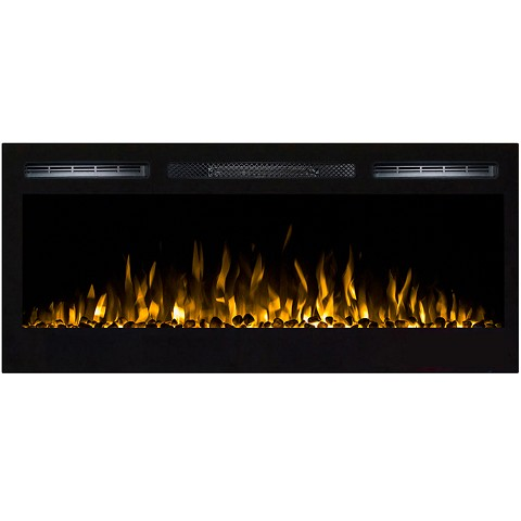 Regal Flame Lexington 35 Inch Built-in Ventless Heater Recessed Wall Mounted Electric Fireplace - Pebble