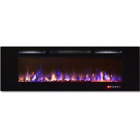 Regal Flame Gotham 72 Inch Built-in Ventless Heater Recessed Wall Mounted Electric Fireplace - Multi-Color