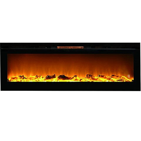Regal Flame Gotham 72 Inch Built-in Ventless Heater Recessed Wall Mounted Electric Fireplace - Log