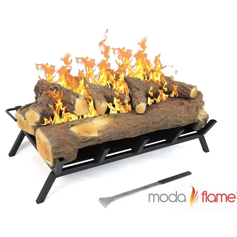 Moda Flame 24 Inch Convert to Ethanol Gas Log Fireplace Burner Insert