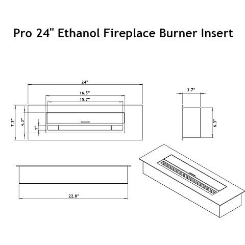 moda flame pro 24 ethanol fireplace burner insert