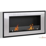 Moda Flame Lugo Recessed Wall Mounted Ethanol Fireplace
