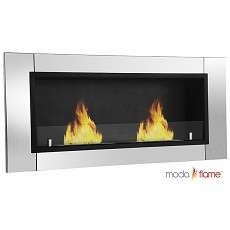 Moda Flame Valencia Recessed Wall Mounted Bio Ethanol Fireplace