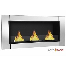 Moda Flame Devant Ethanol Recessed Wall Mounted Fireplace