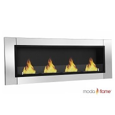 Wraith Ventless Bio Ethanol Recessed Wall Mounted Fireplace