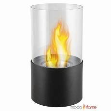 Moda Flame Lit Table Top Bio-Ethanol Fireplace in Black