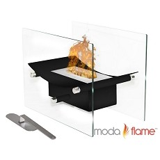 Moda Flame Cavo Table Top Ventless Bio Ethanol Fireplace in Black