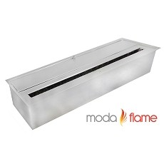 Moda Flame 12 Inch Ventless Ethanol Fireplace Burner Insert - 2.2 Liter