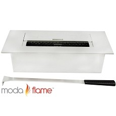 Moda Flame 12 Inch Ventless Ethanol Fireplace Burner Insert - 1.5 Liter