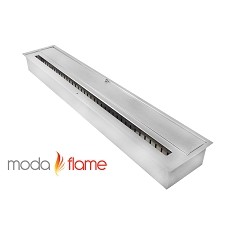 Moda Flame 36 Inch Indoor Outdoor Ethanol Fireplace Burner Insert