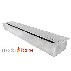 Moda Flame 47 Inch Indoor Outdoor Ethanol Fireplace Burner Insert