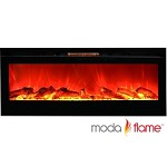 Moda Flame 50 Inch Cynergy Log Built-In Wall Mounted Electric Fireplace
