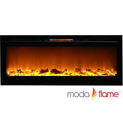 Moda Flame 60 Inch Cynergy XL Log Built-In Wall Mounted Electric Fireplace