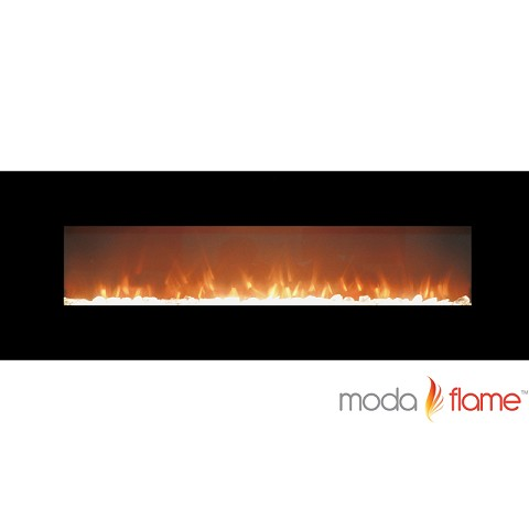 Moda Flame 72 Inch Skyline Crystal Linear Wall Mounted Electric Fireplace