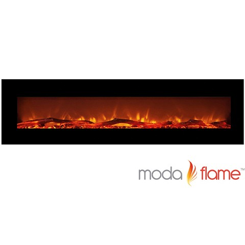 Moda Flame 95 Inch Grand Log Wall Mounted Electric Fireplace