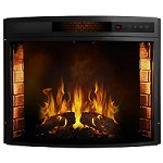 Moda Flame Elwood 26 Inch Curved Electric Fireplace Insert