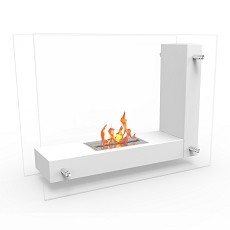 Regal Flame Avec Ventless Free Standing Ethanol Fireplace in White