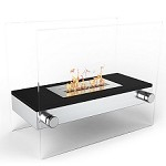 Regal Flame Alor Ventless Free Standing Ethanol Fireplace in Black