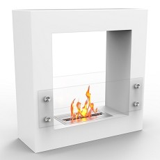 Regal Flame Dora Ventless Free Standing Ethanol Fireplace in White