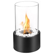 Regal Flame Eden Ventless Tabletop Fire Pit Portable Bio Ethanol Fireplace in Black
