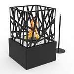 Regal Flame Bruno Ventless Tabletop Portable Bio Ethanol Fireplace in Black
