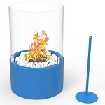 Casper Ventless Ventless Tabletop Portable Bio Ethanol Fireplace in Blue