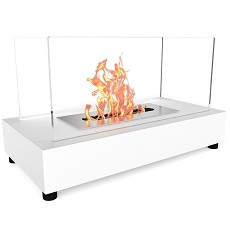 Regal Flame Avon Table Top Indoor Outdoor Ethanol Fireplace White