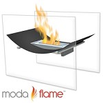 Sienna Free Standing Indoor Outdoor Bio Ethanol Fireplace Black