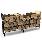 8 Foot Black Shelter Firewood Log Rack