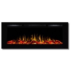 Regal Flame Fusion 50 Inch Built-in Ventless Heater Recessed Wall Mounted Electric Fireplace - Log