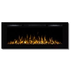 Regal Flame Fusion 50 Inch Built-in Ventless Heater Recessed Wall Mounted Electric Fireplace - Pebble