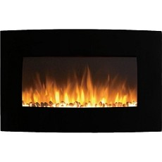 Regal Flame Broadway 35 Inch Ventless Heater Electric Wall Mounted Fireplace - Pebble