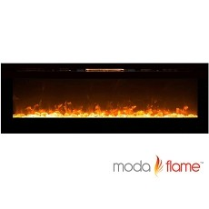Moda Flame 72 Inch Recessed Cynergy XXL Crystal Built-In Wall Mounted Electric Fireplace