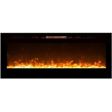 Moda Flame 60 Inch Cynergy XL Crystal Stone Built-In Wall Mounted Electric Fireplace