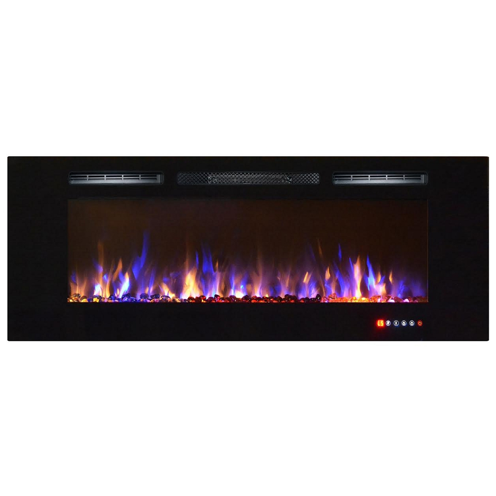 wall mount electric fireplace regal astoria 60 inch built in ventless heater 31127